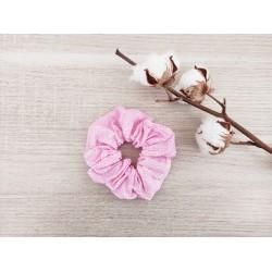 Le chouchou rose à fleurs