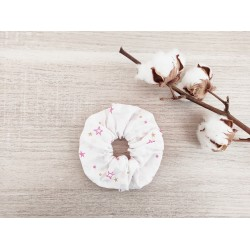 Le chouchou blanc étoile rose