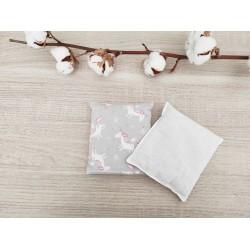 Bouillotte sèche licorne grise