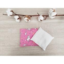 Bouillotte sèche licorne rose