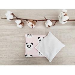 Bouillotte sèche panda rose