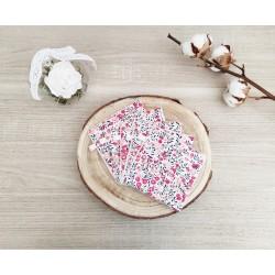 Lingettes lavables Fleur rose