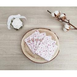 Lingettes lavables florales