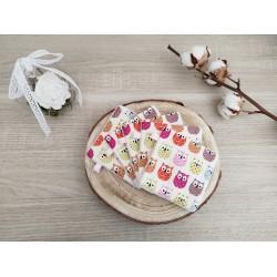 Lingettes lavables hiboux rose