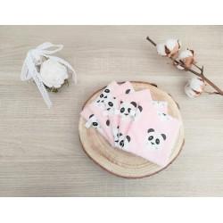 Lingettes lavables panda rose